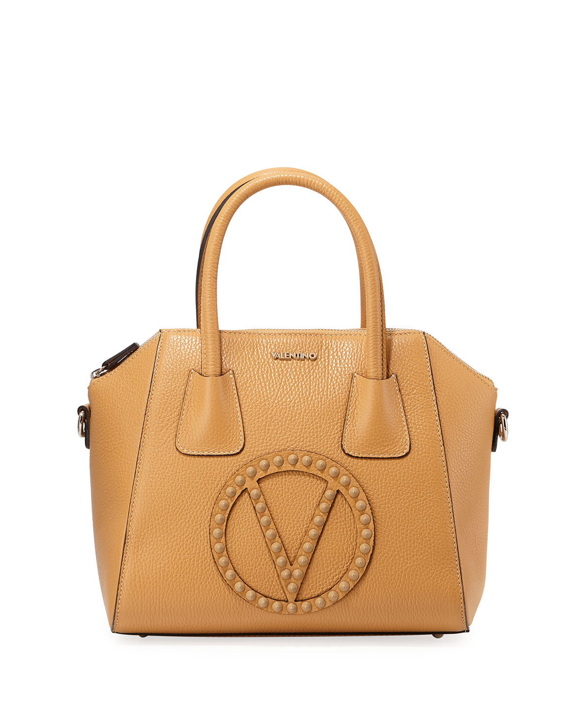 Valentino By Mario Valentino Bags MINIMI ROCK DOLLARO STUDS LEATHER SATCHEL BAG
