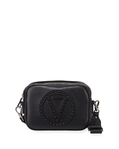 Mia Rock Dollaro Studs Leather Crossbody Bag
