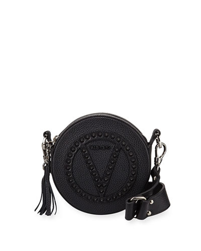 Yuki Dollaro Studs Leather Crossbody Bag