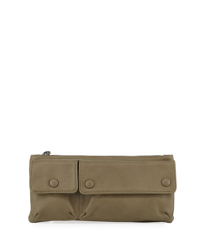 Convertible Faux-Leather Shoulder/Belt Bag