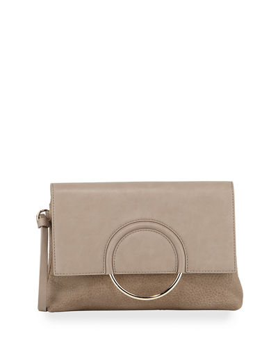 Textured Ring Clutch Bag