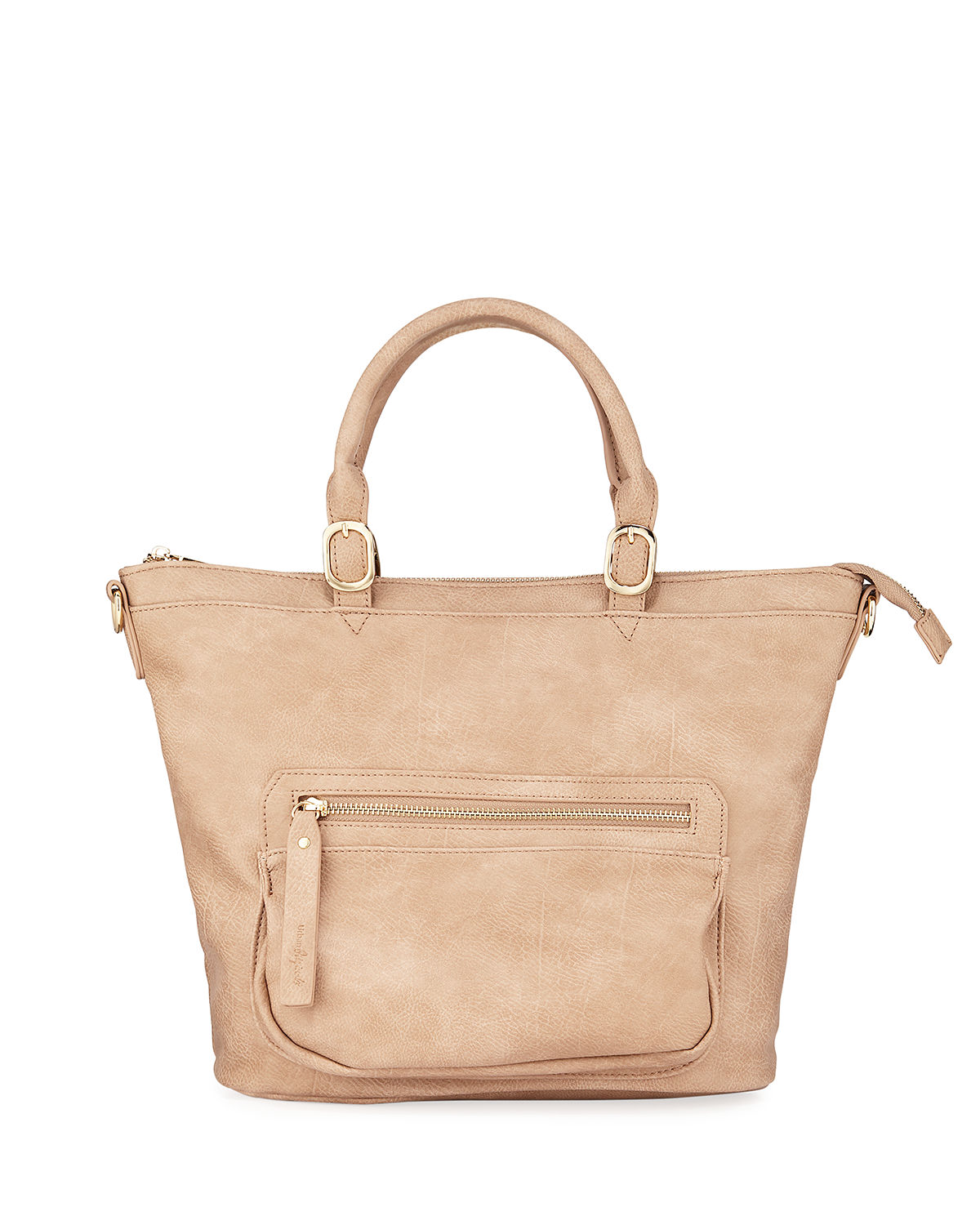 Medium Faux-Leather Shoulder Bag