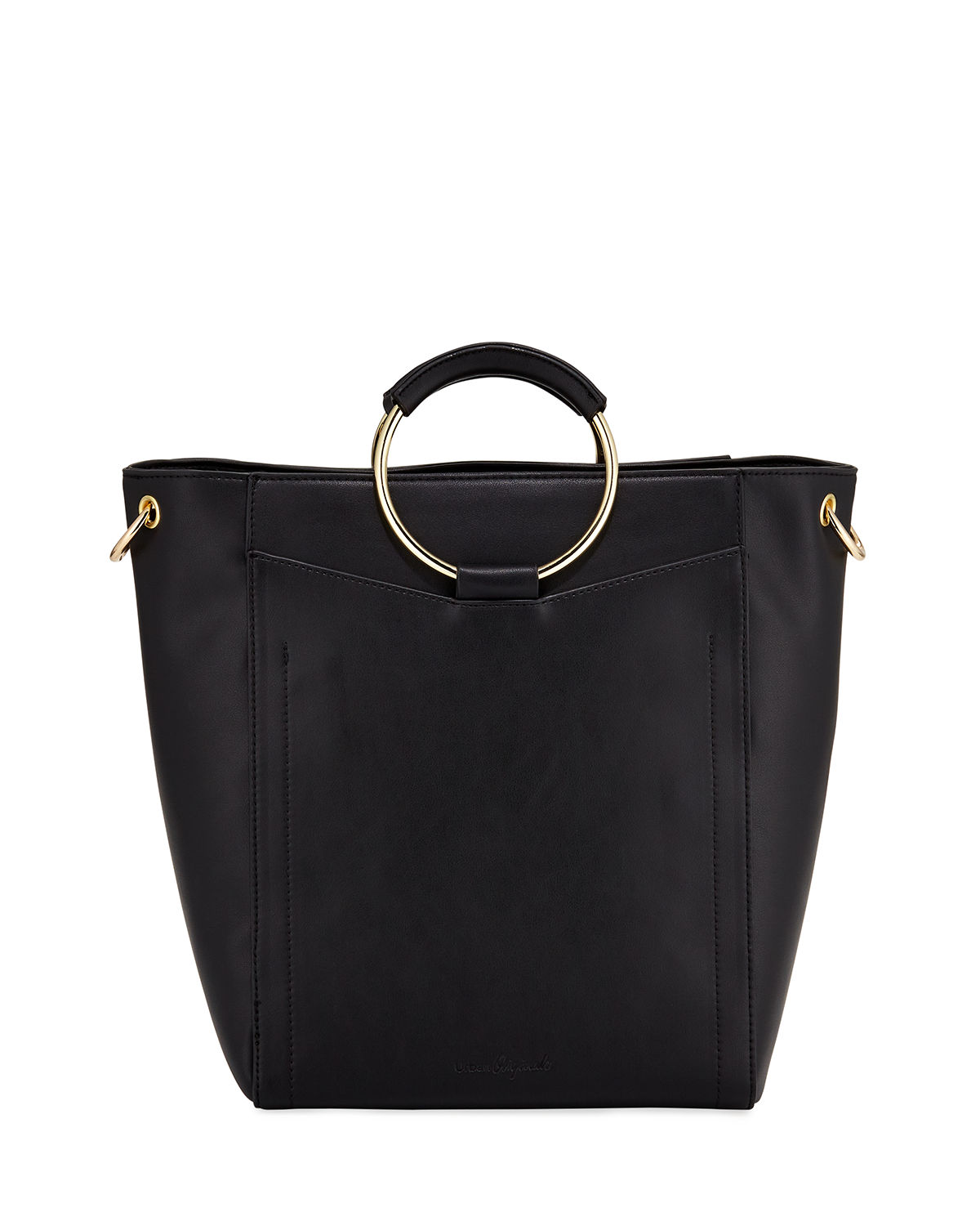 Urban Originals HARDSIDE RING-HANDLE LARGE TOTE BAG