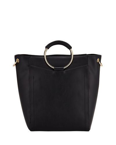 Hardside Ring-Handle Large Tote Bag