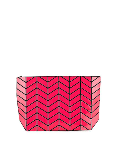Chevron Geometric Small Clutch Bag