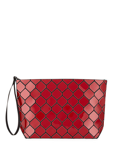 Honeycomb Geometric Small Clutch Bag