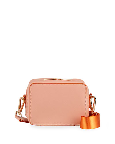Faux-Saffiano Small Crossbody Bag