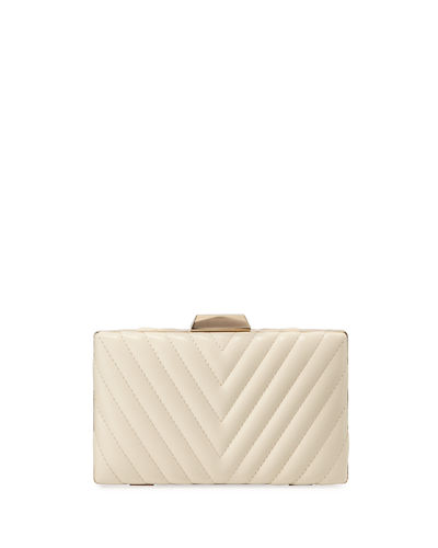 Chevron Quilted Minaudiere Bag