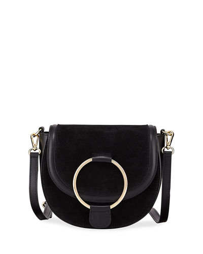 Horseshoe Ring Leather Crossbody Bag