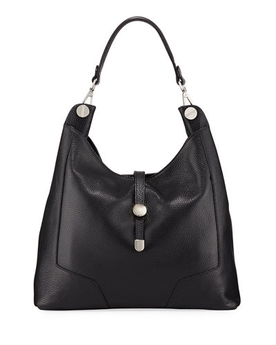 Medallion Leather Hobo Bag