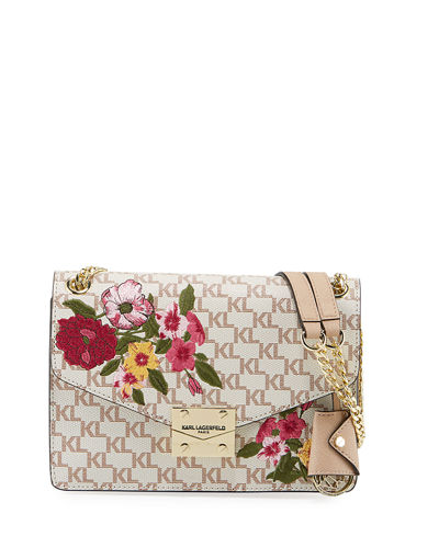 Corinne Monogrammed Shoulder Bag