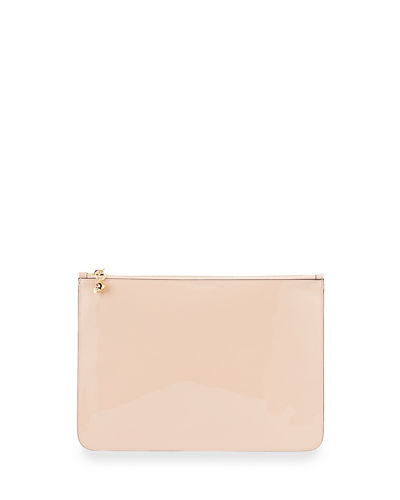 Soft Patent Zip Clutch Bag  Boudoir