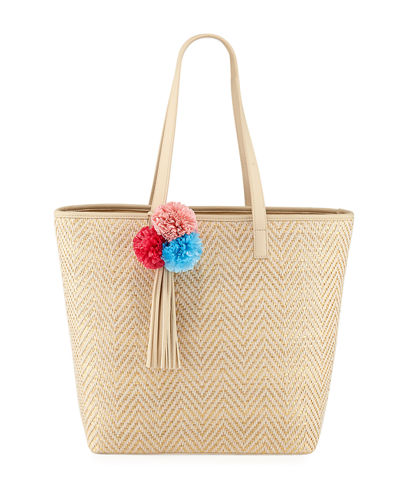 Bella Large Woven Tote Bag