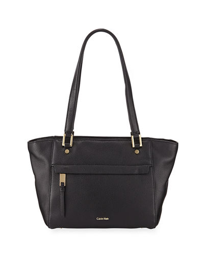 Pebbled Leather Large Tote Bag