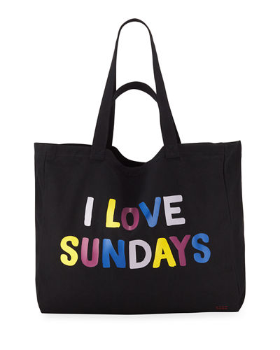Oversized Canvas Shopper Tote Bag