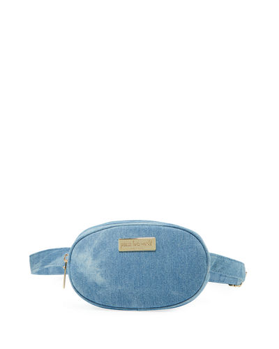 Canvas Small Oval Belt Bag