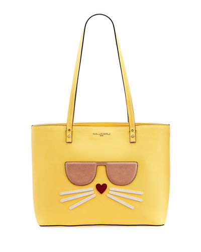 Maybelle Saffiano Leather Choupette Tote Bag