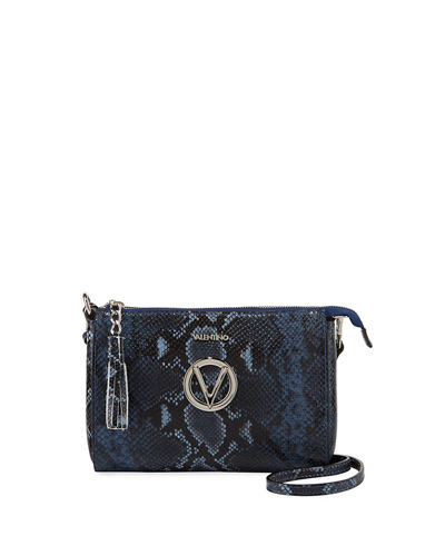 Susanne Python-Print Small Crossbody Bag