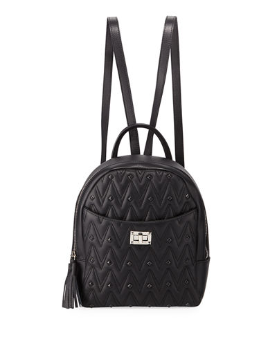 Cosmo Quilted Leather Backpack