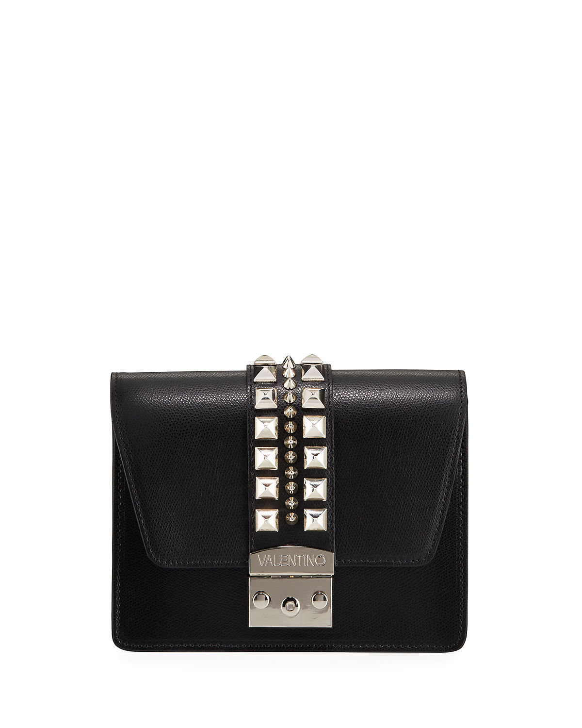 VALENTINO BY MARIO VALENTINO BENEDICTE STUDDED LEATHER CROSSBODY BAG