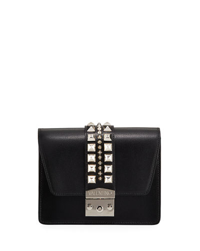 Benedicte Studded Leather Crossbody Bag