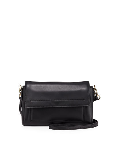 Kaylee Leather Flap Top Crossbody Bag