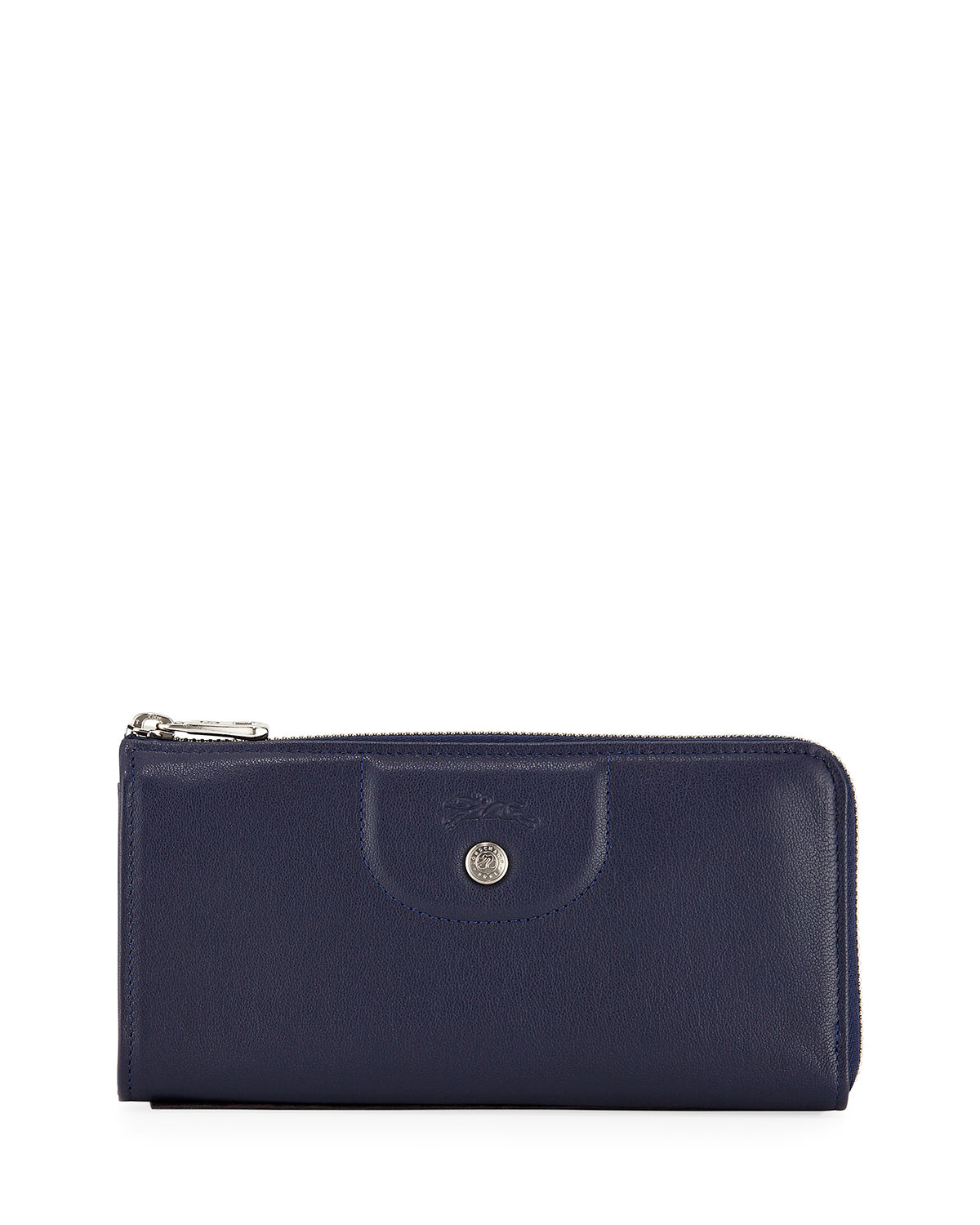 Le Pliage Cuir Leather Zip-Around Wallet
