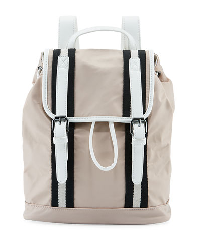 Chloe Medium Flap-Top Nylon Backpack
