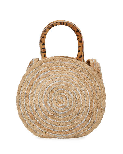 Emilia Metallic Jute Round Shoulder Bag