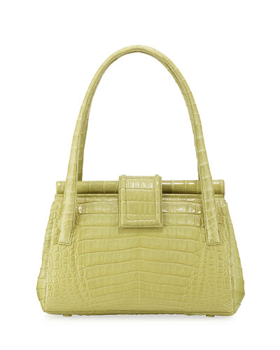 Crocodile Medium Top Handle Shoulder Bag