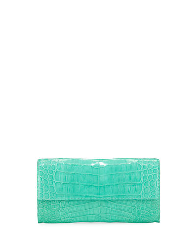 Crocodile Flap-Top Continental Wallet
