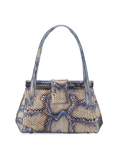 Python Medium Top Handle Shoulder Bag
