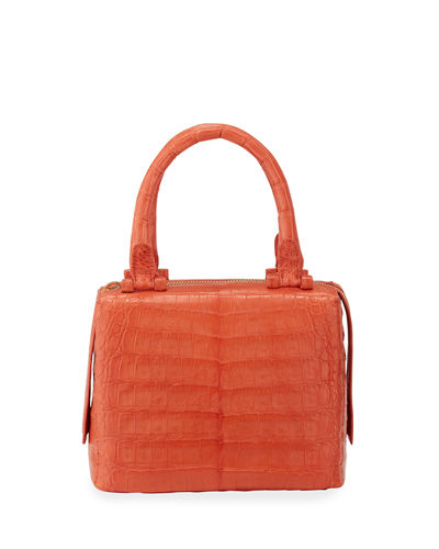 Ombre Crocodile Medium Top Handle Satchel Bag