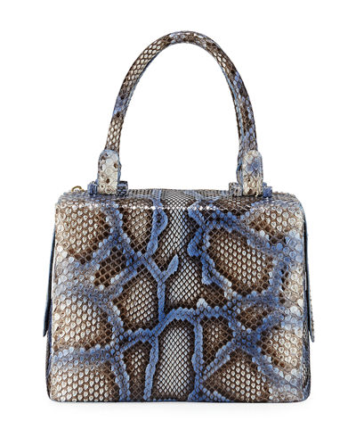 Python Medium Top Handle Satchel Bag