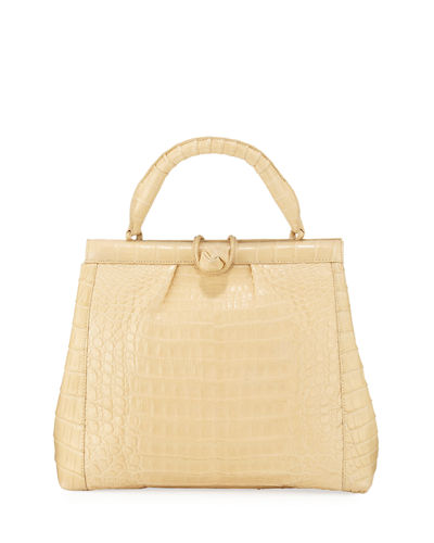 Crocodile Medium Notch and Loop Top Handle Bag