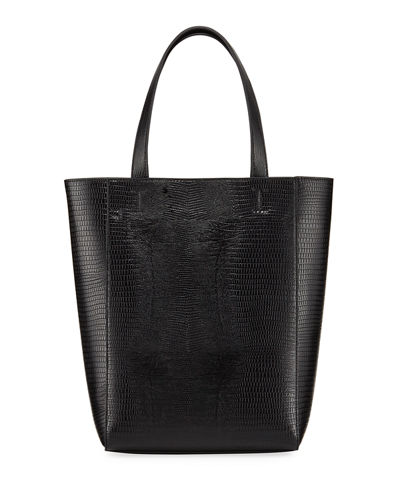 Fifi Small Lizard-Embossed Tote Bag