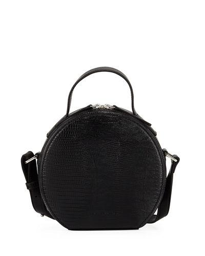 Marin Logo Embossed Mini Hat Box Bag with Crossbody Strap
