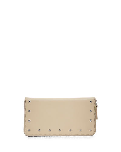 Cecily Studded Zip-Around Continental Wallet