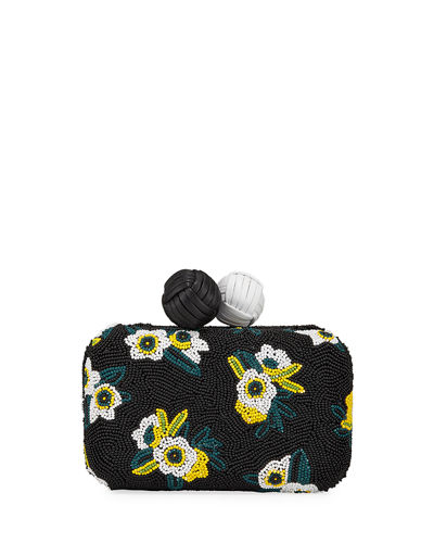 Annabelle XS Floral Beaded Minaudiere