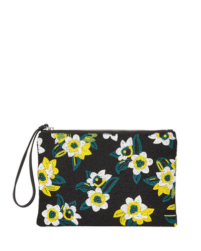 Abigail Small Floral Beaded Clutch Bag