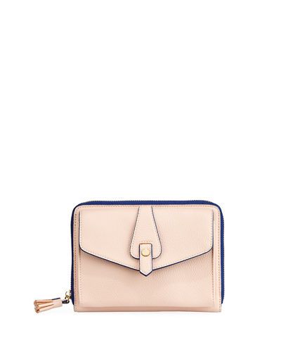Willa Pebbled Zip-Top Wallet Bag