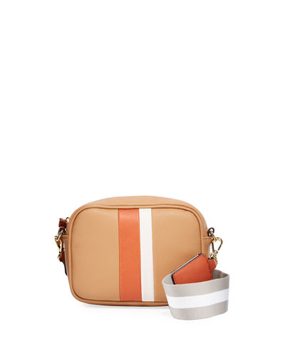 Cara Small Stripe Crossbody Bag
