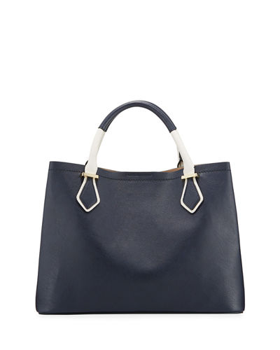 Bradley Two-Tone Medium Satchel Bag