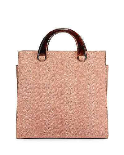 Cynthia Lizard-Embossed Tote Bag