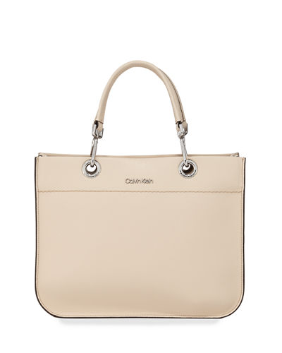 Sandra Leather Satchel Tote Bag