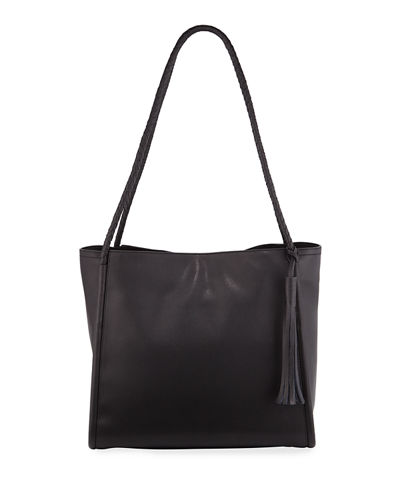 Key Item Large Leather Tote Bag
