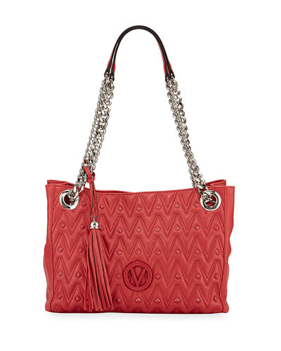 Luisa Quilted Leather Tote Bag