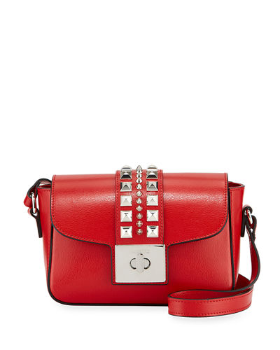 Yasmine Studded Leather Flap Top Bag