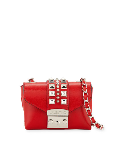 Paulette Madras Studded Shoulder Bag