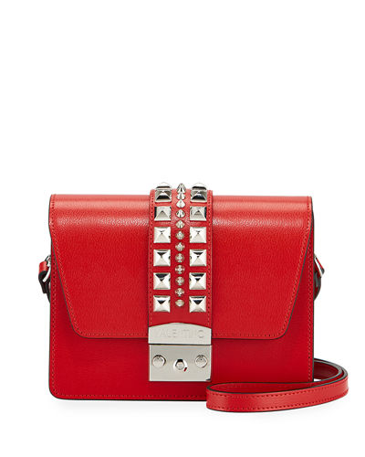 Benedicte Madras Studded Leather Flap Top Bag